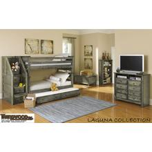 Laguna Twin-Twin Bunk Bed Grey
