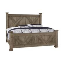 Queen Cool Rustic Stone X Bed