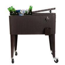 Brown Cooler Cart