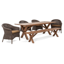 Cumberland 6 Piece Dining Set (Table, 4 Chairs, Bench)