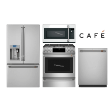 "GE CAFE 36"" French Door W/ K-Cup (Counter-Depth) W/ Slide-In Gas Range"