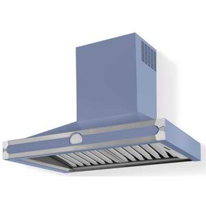 Lacornue Cornufe - Provence Blue Albertine 90 Hood with Satin Chrome Accents