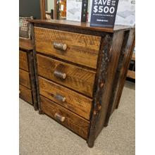 Etchwood Hickory Log 4-Drawer Chest