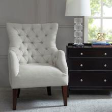 See Details - BUTTON TUFTED WING CHAIR