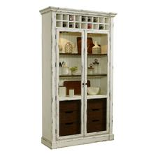 Rustic Curio with Wine Storage