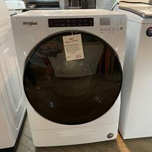 See Details - 7.4 cu. ft. Front Load Electric Dryer with Steam Cycles White