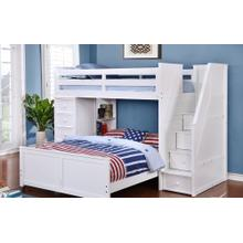 Multi-Purpose Loft - Twin Full Bunk Bed - White