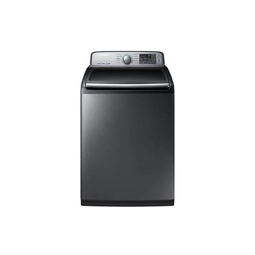 Samsung - Samsung WA50M7450AP Top-Load Washer, 5.8 cu.ft. in Platinum