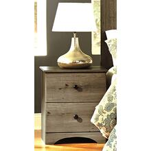 2 Drawer Nightstand Weathered Gray Ash