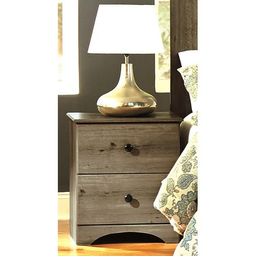 Perdue Woodworks - 2 Drawer Nightstand Weathered Gray Ash