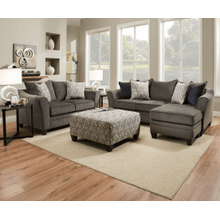View Product - Sofa-Chaise and Loveseat - Albany Pewter