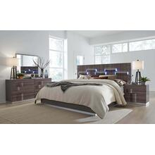 Eastern King Size Bed Grey HG & Zebra Wood
