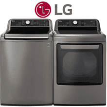 TurboWash3D LG Laundry Pair in Graphite Steel