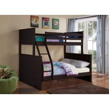 See Details - TWIN/FULL ESPRESSO BUNKBED