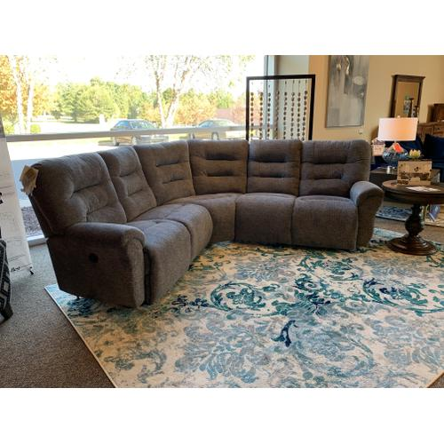 Best Home Furnishings - Unity Charcoal Power Sectional