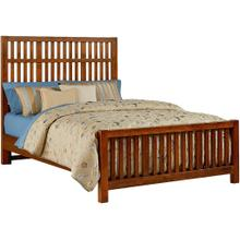 Queen Amish Cherry Craftsman Bed