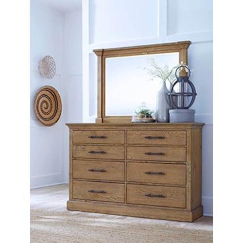 Aspen Furniture - Aspen - Manchester Queen Bedroom - Bed, Dresser, Mirror