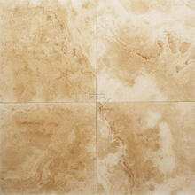 24x24 Ivory Honed Filled Wavy Travertine Tile (1/2)