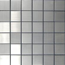 Stainless Steel Brushed Metal Mosaic 1 7/8x1 7/8
