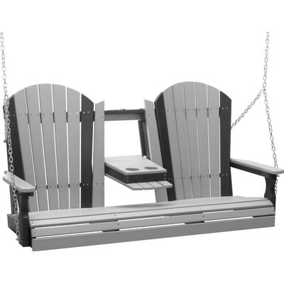 Adirondack Swing 5' Dove Gray and Black