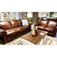 See Details - Pacific Chestnut Leather Sofa & Loveseat