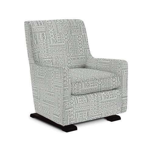 Coral Swivel Glider Chair in Platinum Fabric