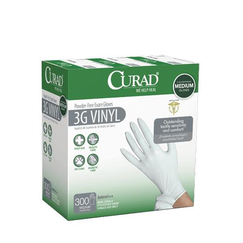 Curad 3G Vinyl Exam Gloves - Medium