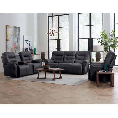 Unity Medium Leather Rocker Recliner (Steel)