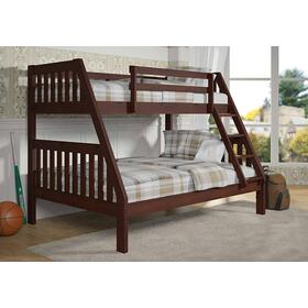 Twin/Full Cappuccino Mission Bunkbed