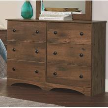 See Details - 6 Drawer Dresser - Aspen Oak