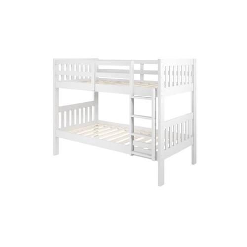 Donco Trading Company - DONCO 1010-3ATTW-BTTW-CTTW Harriet Cottage Twin Over Twin Mission Bunk Bed