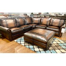 View Product - Top Grain Italian Leather Sectional AND Ottoman in Hillsboro Bomber Jacket