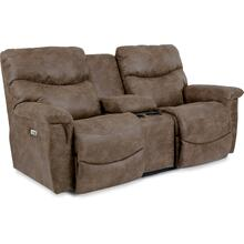 James Power Reclining Loveseat with Headrest & Console