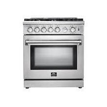 "30"" Gas Range, FORNO ALTA QUALITA Stainless Steel, with 4 Defendi Italian Burners"