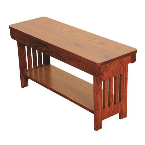 Amish Craftsman - Mission Backless Bench
