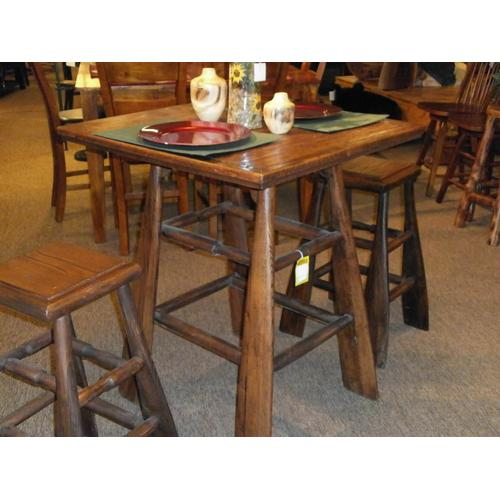 Paddle Pub Table and Two Paddle Stools