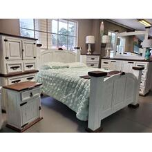 View Product - White Distressed Mansion Queen or King Bed