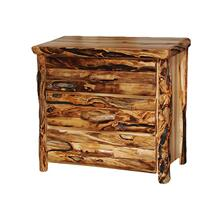3 Drawer Chest Log Front Wild Panel Gnarly Log