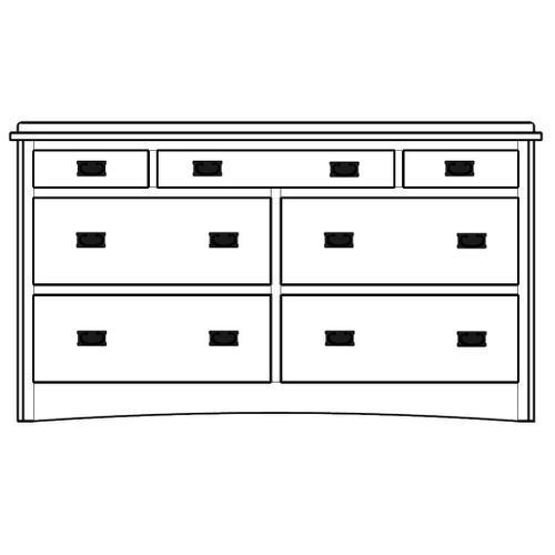 Amish-made 7 Drawer Dresser