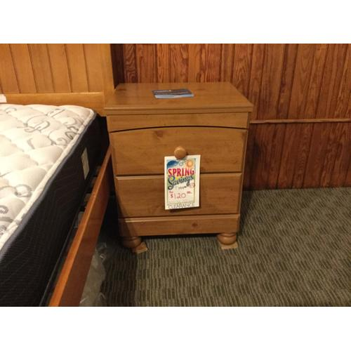 """Ashley """"Stages"""" Country Pine B233-92 Nightstand 22""""W-16""""D-25""""H"""