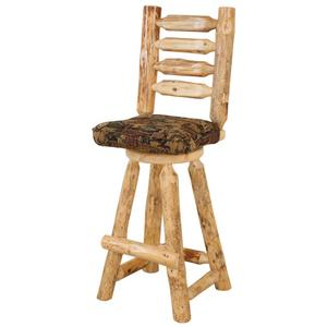 """Best Craft Furniture - RRP319  24"""" Swivel Counterstool with Ladder Back & Upholstered Seat"""