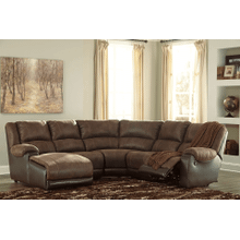 Nantahala - Coffee - 2 Recliner Sectional with Left Facing Chaise
