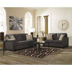 Alenya Sofa and Loveseat Set Charcoal