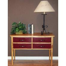 Four Drawer Console