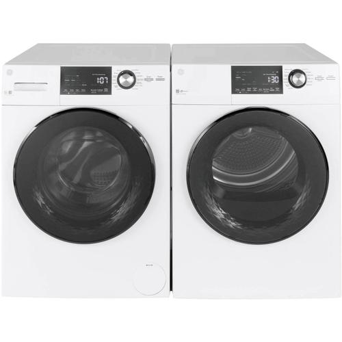 """GE 24"""" 2.4 cu. ft Steam Washer and 4.3cu. ft. Dryer"""