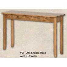 Oak Shaker Table With 2 Drawers