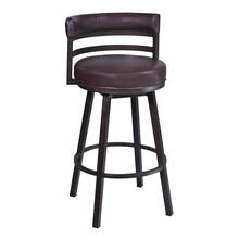 """Ronny"" Style Swivel Stool. Available in 2 Color Combinations."