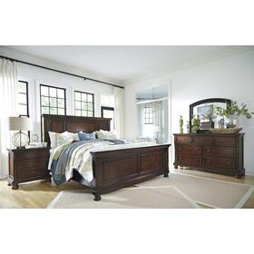 Porter 4 Pc. King Panel Bedroom Set Rustic Brown