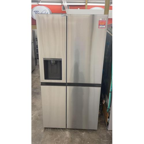 Treviño Appliance - LG Side by Side Refrigerator  in Print Proof Stainless Steel