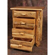 White Cedar Log 4 Drawer Chest